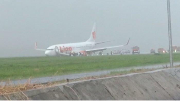 Terungkap Begini Detik-detik Pesawat Lion Air Tergelincir di Lampung, Terjadi Saat Hujan Deras
